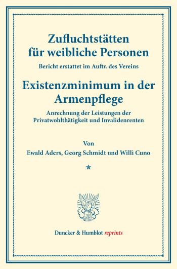 Cover: Zufluchtstätten für weibliche Personen