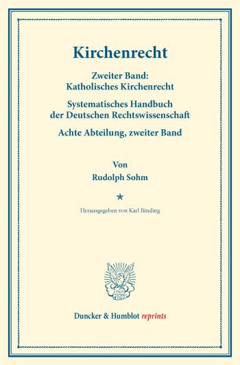Cover: Kirchenrecht