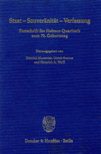 Cover: Staat - Souveränität - Verfassung