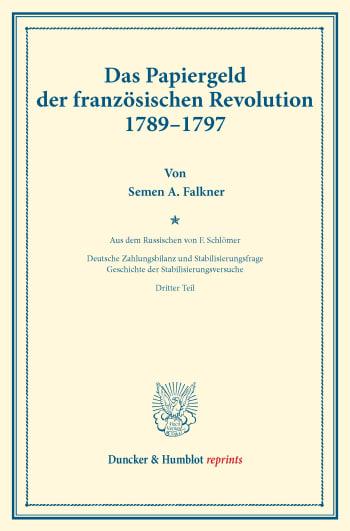 Cover: Das Papiergeld der französischen Revolution 1789–1797