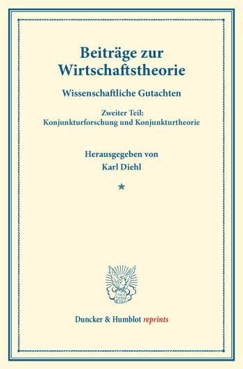 Cover: Beiträge zur Wirtschaftstheorie