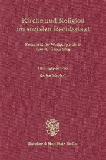 Cover: Kirche und Religion im sozialen Rechtsstaat