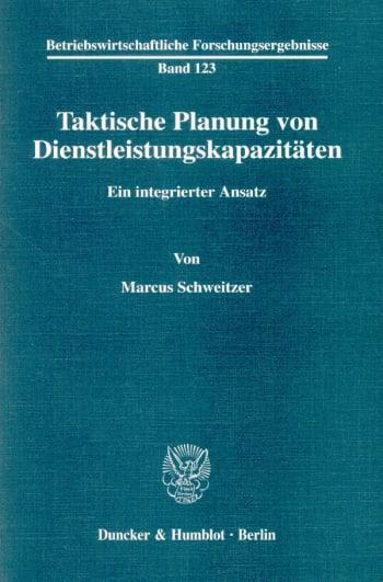 Cover: Taktische Planung von Dienstleistungskapazitäten