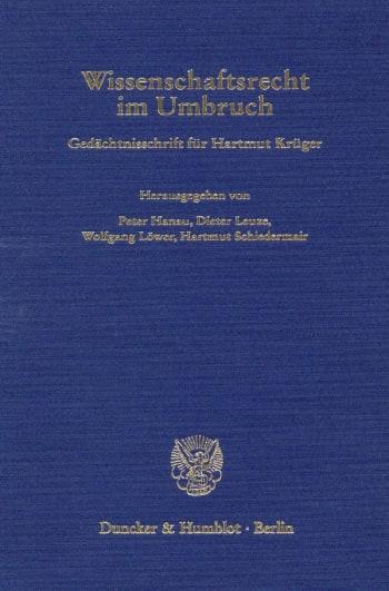 Cover: Wissenschaftsrecht im Umbruch