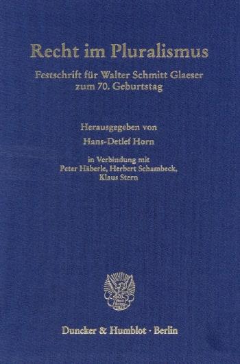 Cover: Recht im Pluralismus