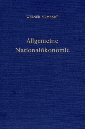 Cover: Allgemeine Nationalökonomie