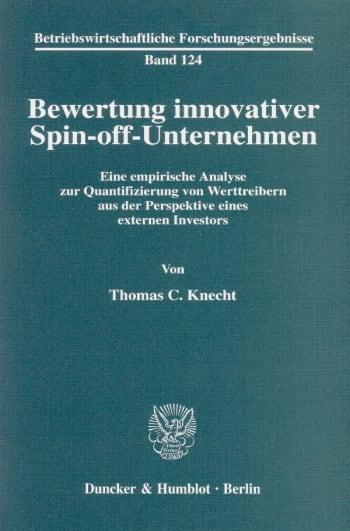 Cover: Bewertung innovativer Spin-off-Unternehmen