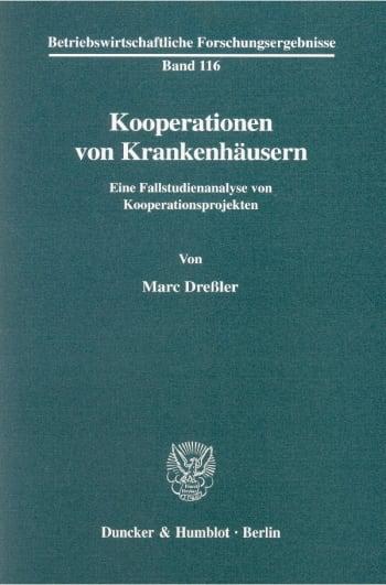 Cover: Kooperationen von Krankenhäusern