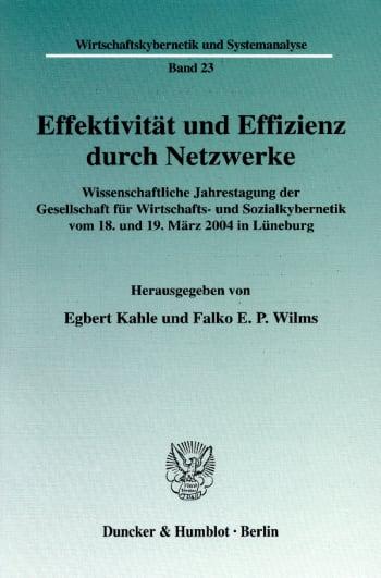 Cover: Effektivität und Effizienz durch Netzwerke