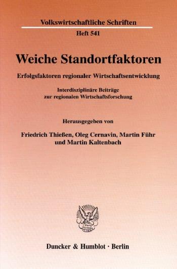 Cover: Weiche Standortfaktoren