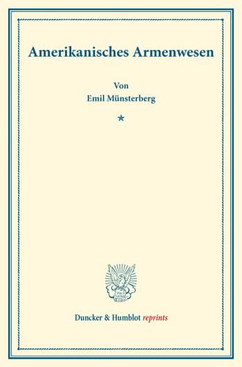 Cover: Amerikanisches Armenwesen