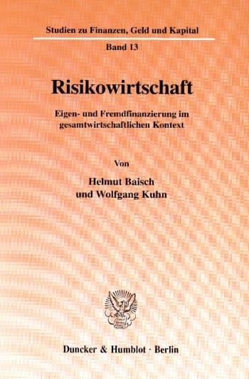 Cover: Risikowirtschaft
