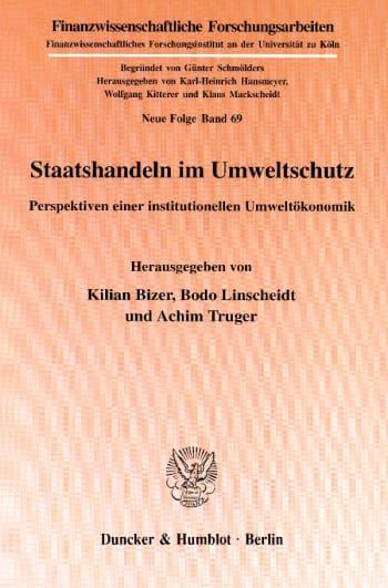 Cover: Staatshandeln im Umweltschutz