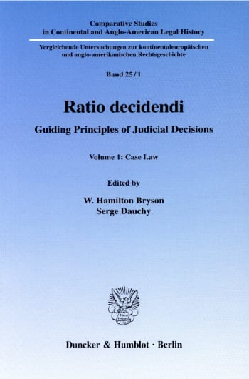 Cover: Ratio decidendi