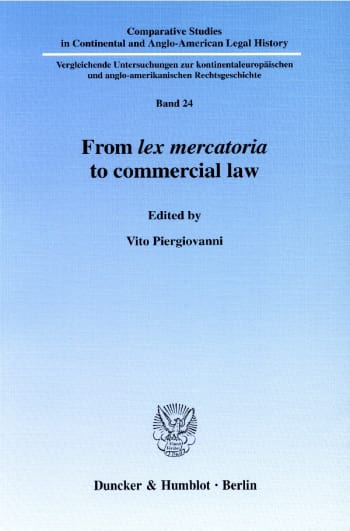 Cover: From lex mercatoria to commercial law