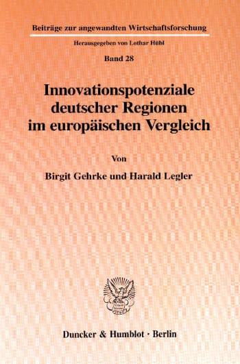 Cover: Innovationspotenziale deutscher Regionen im europäischen Vergleich