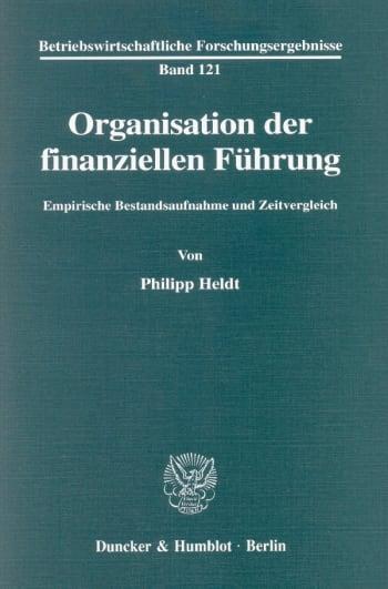 Cover: Organisation der finanziellen Führung