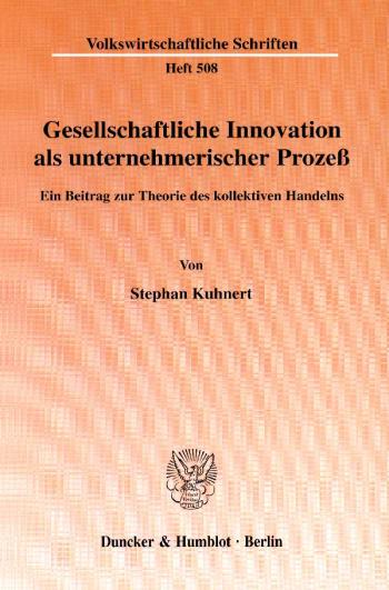 Cover: Gesellschaftliche Innovation als unternehmerischer Prozeß