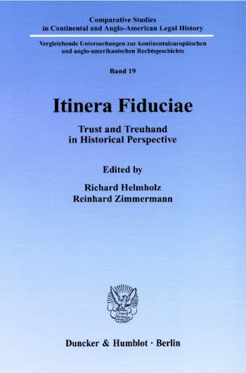 Cover: Itinera Fiduciae