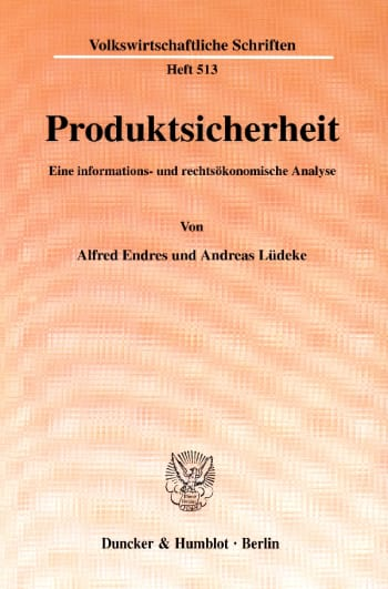 Cover: Produktsicherheit