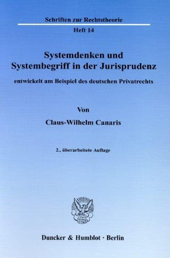Cover: Systemdenken und Systembegriff in der Jurisprudenz,