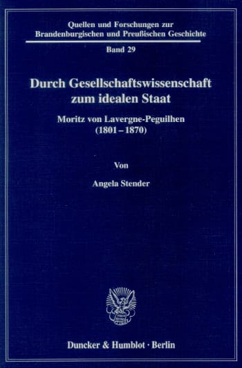 Cover: Durch Gesellschaftswissenschaft zum idealen Staat