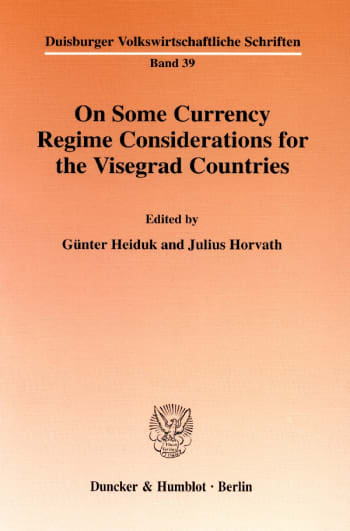 Cover: On Some Currency Regime Considerations for the Visegrad Countries