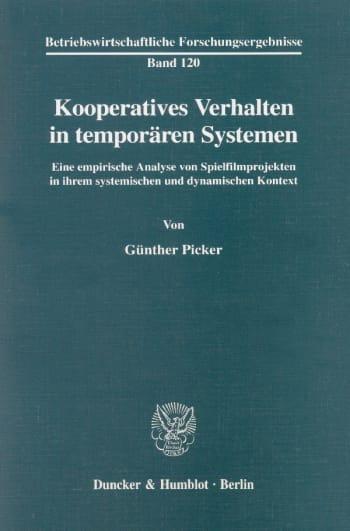 Cover: Kooperatives Verhalten in temporären Systemen