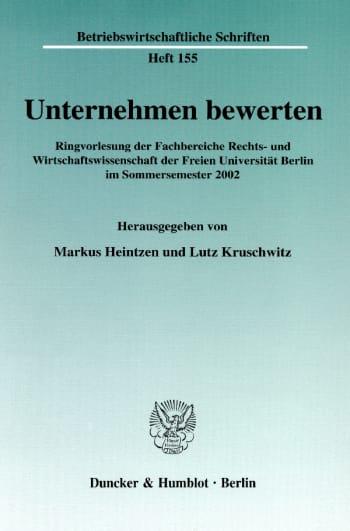 Cover: Unternehmen bewerten