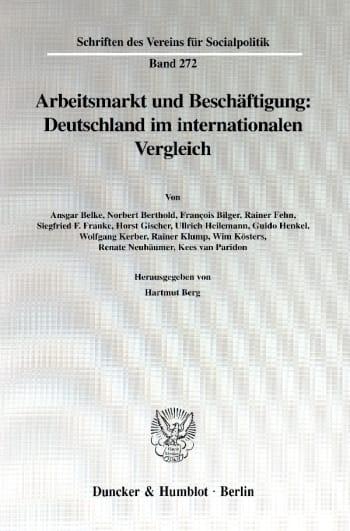 Cover: Arbeitsmarkt und Beschäftigung: Deutschland im internationalen Vergleich