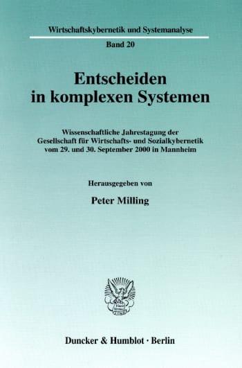 Cover: Entscheiden in komplexen Systemen