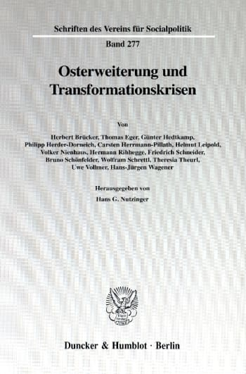 Cover: Osterweiterung und Transformationskrisen
