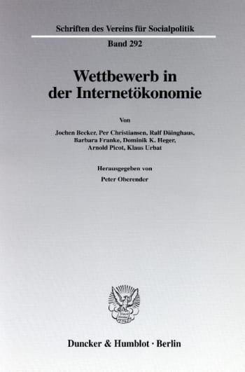 Cover: Wettbewerb in der Internetökonomie