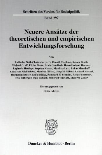 Cover: Neuere Ansätze der theoretischen und empirischen Entwicklungsforschung