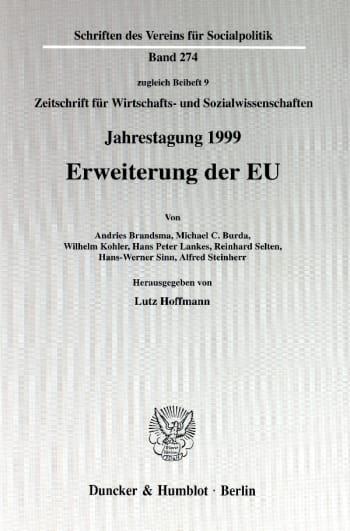 Cover: Erweiterung der EU