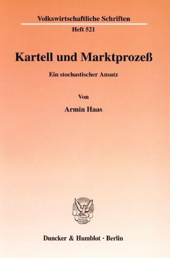 Cover: Kartell und Marktprozeß
