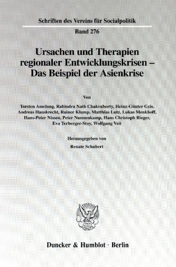 Cover: Ursachen und Therapien regionaler Entwicklungskrisen -