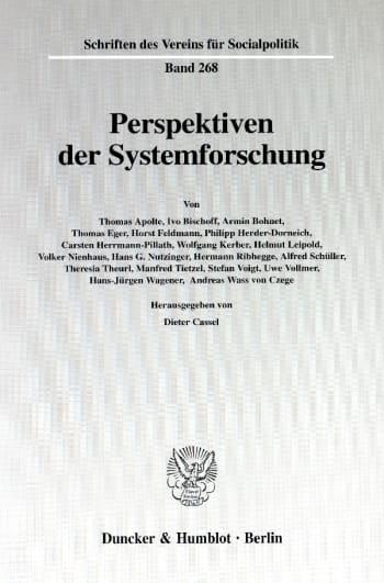 Cover: Perspektiven der Systemforschung