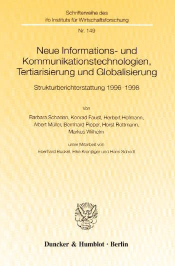 Cover: Schriftenreihe des ifo Instituts für Wirtschaftsforschung (IFO R)