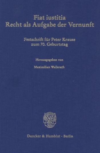 Cover: Fiat iustitia