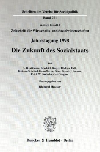 Cover: Die Zukunft des Sozialstaats