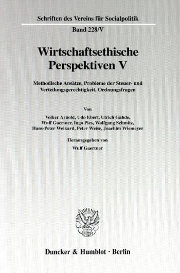 Cover: Wirtschaftsethische Perspektiven V