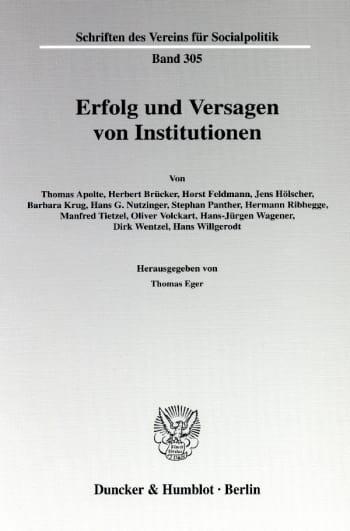 Cover: Erfolg und Versagen von Institutionen