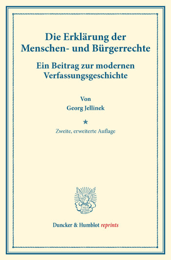 Cover: Die Erklärung der Menschen- und Bürgerrechte