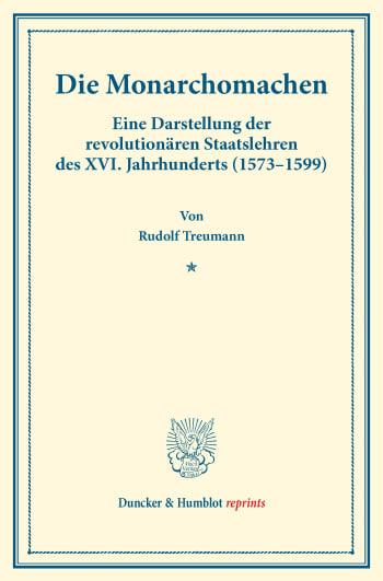 Cover: Die Monarchomachen