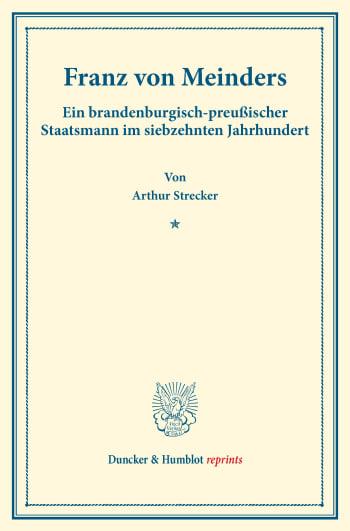 Cover: Franz von Meinders