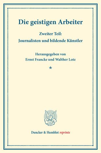 Cover: Die geistigen Arbeiter