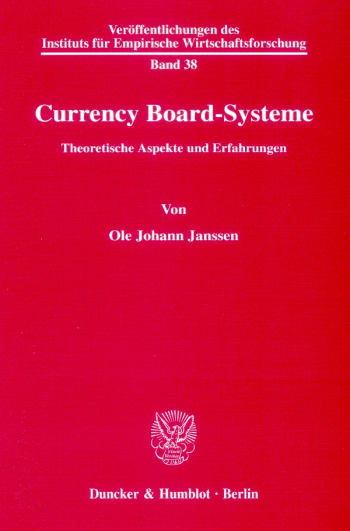 Cover: Currency Board-Systeme