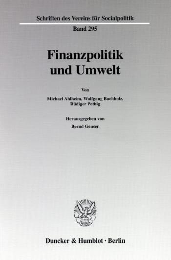 Cover: Finanzpolitik und Umwelt