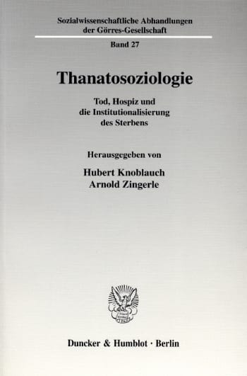 Cover: Thanatosoziologie